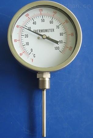 卡套螺紋徑向型雙金屬溫度計