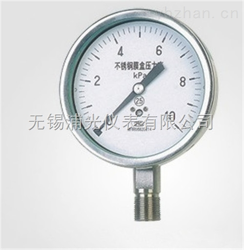 YMNF-100-可定制非标膜盒压力表