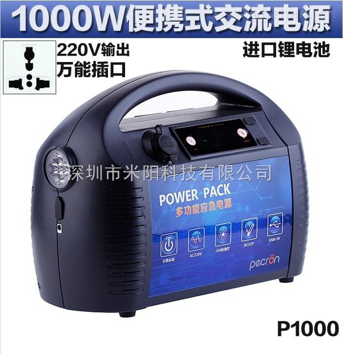 供应1000W220V户外便携式多功能应急备用移动电源