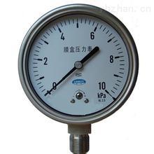 不銹鋼膜盒壓力表YE-150