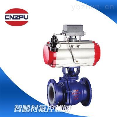 ZSHVF46衬氟气动V型调节球阀生产厂家