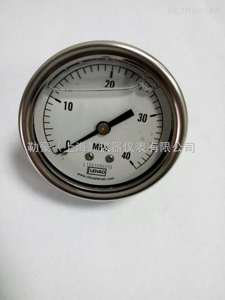 不锈钢耐震轴向压力表-轴向压力表-上海勒豪