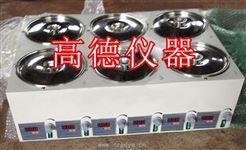 HH-6D六仓磁力搅拌水浴锅