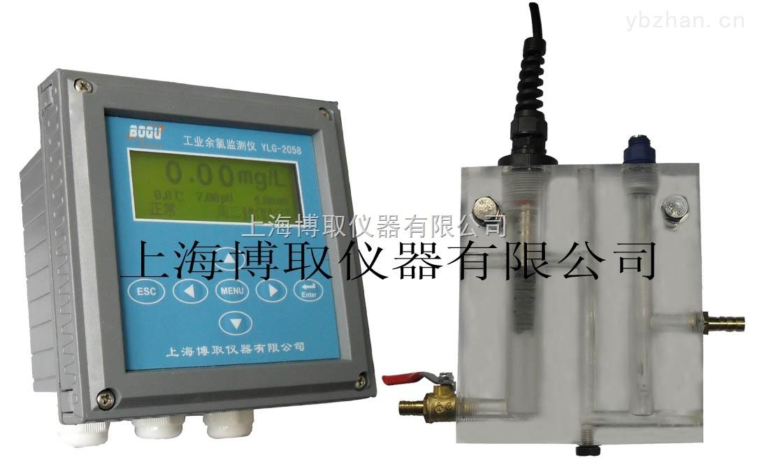 自来水厂在线余氯检测仪,PH,温度,厂家上海博取