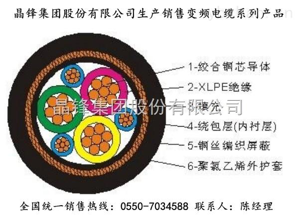 变频电缆 ZR-BPGGP 3*240+3*50
