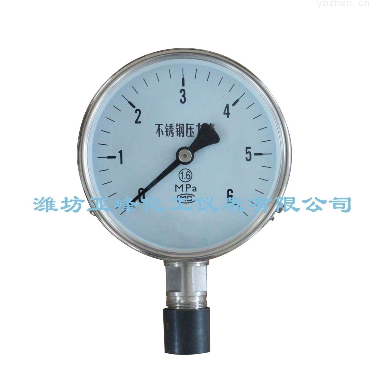 耐震压力表应用