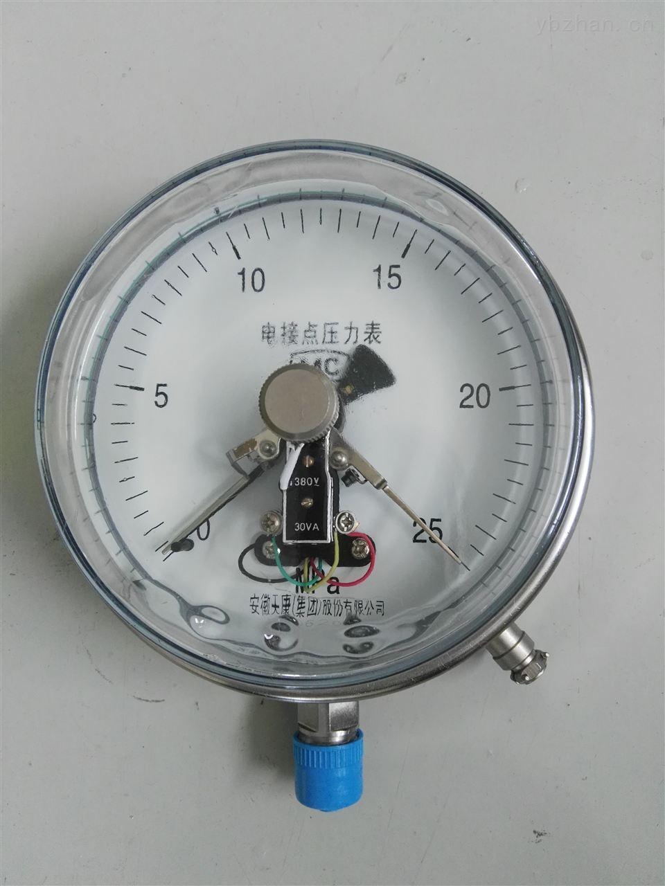一般电接点压力表