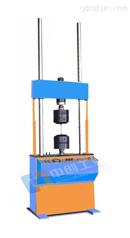 客户来厂验收橡胶垫板动静刚度试验机