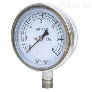 YE-100B-不銹鋼膜盒壓力表YE-100ZB