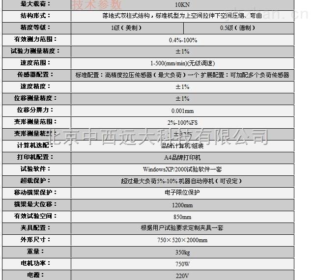 SD96/SHS2/WDW-10-万能材料试验机 型号:SD96/SHS2/WDW-10库号:M392100