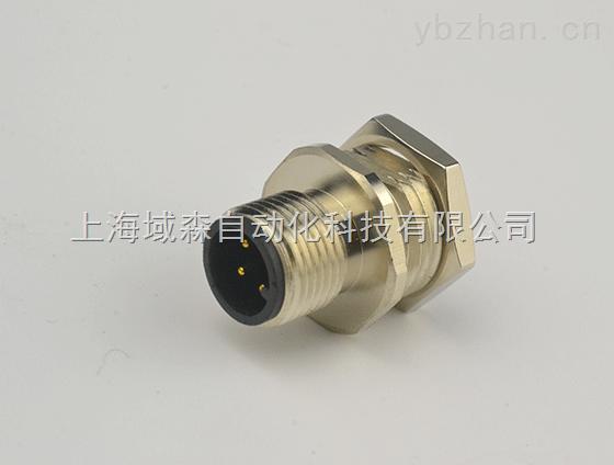 上海域森自動化-M12法蘭連接器 4芯 5芯