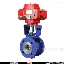 VQ941F电动衬氟V型球阀 V型衬氟球阀过浓硫酸介质