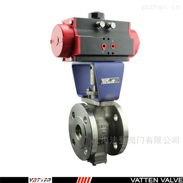 不锈钢电动V型调节阀山东一体式V型阀座球阀