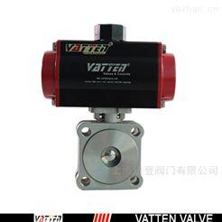 Q671F对夹式气动不锈钢球阀 污水排放对夹球阀