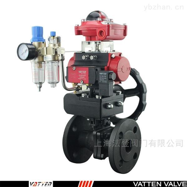 过空气介质碳钢球阀 气动排气法兰球阀