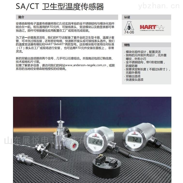 SA/CT-安德森耐格SA/CT 衛生型溫度傳感器