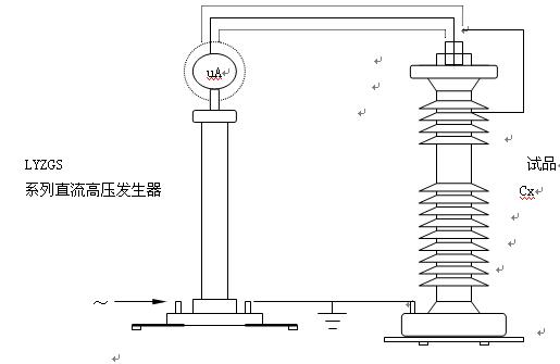 八、限流电阻使用说明 1、限流电阻功能:当试品击穿或闪烁时,起到了限止电流的作用,从而不损坏试验设备。 2、使用方法:只要将限流电阻一端M10螺母拧到直流高压发生器倍压筒顶部,高压输出线螺栓上即可。如果要串接高压微安表(另选购SWB-V型表),只要将微安表底部M10螺母拧在限流电阻的另一端即可。 3、如果使用LYZGS系列直流高压发生器时,试品是氧化锌避雷器、普阀式避雷器和高压开关等电力设备时,可以不用限流电阻。即凡是小电流、小电容试品,可以不用限流电阻。 4、电力电缆、变压器、电机等大电容试品,应在高压