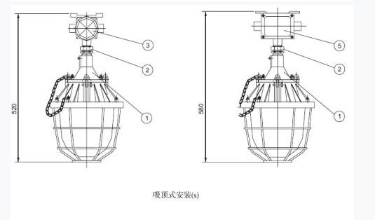 BAD51(BCD)系列隔爆型防爆灯