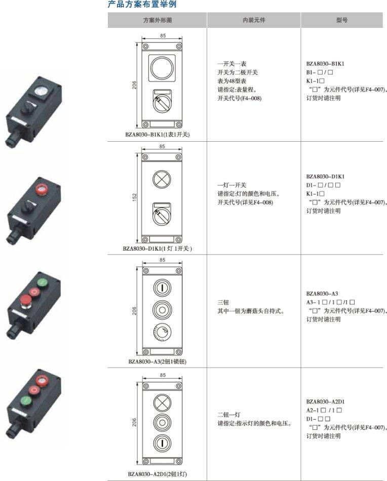 BZA8030(BZA8050)系列防爆防腐主令控制器