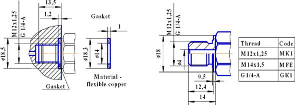 hpl镁钛蓝宝石压力传感器(低压型)