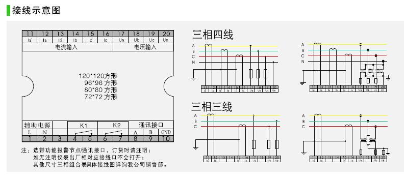 数字三相电流电压表