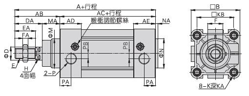 气缸延时动作电路图