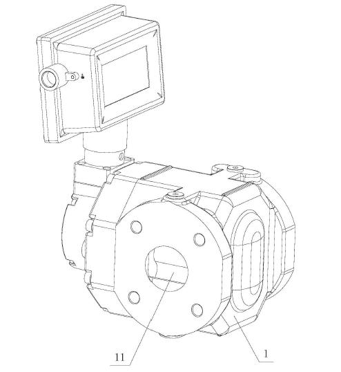 本实用新型腰轮流量计阀体的结构示意图
