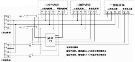 【专利】单三相电能表兼容检定电压系统分离解决方法