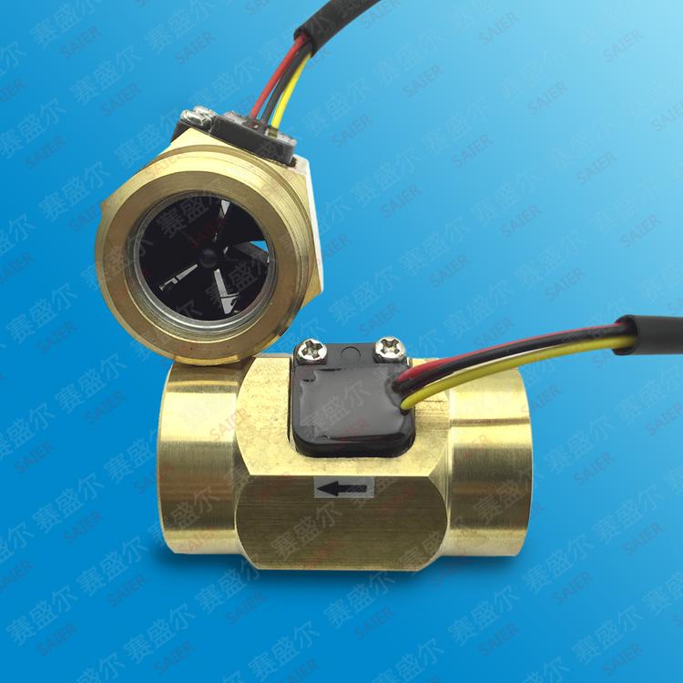 产品主要有脉冲信号式水流传感器(又称水控流量计,水流传感器,霍尔